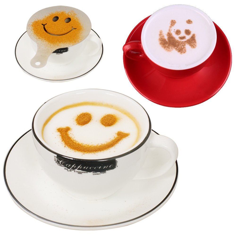 שבלונות לציור על קפה או עוגה 5