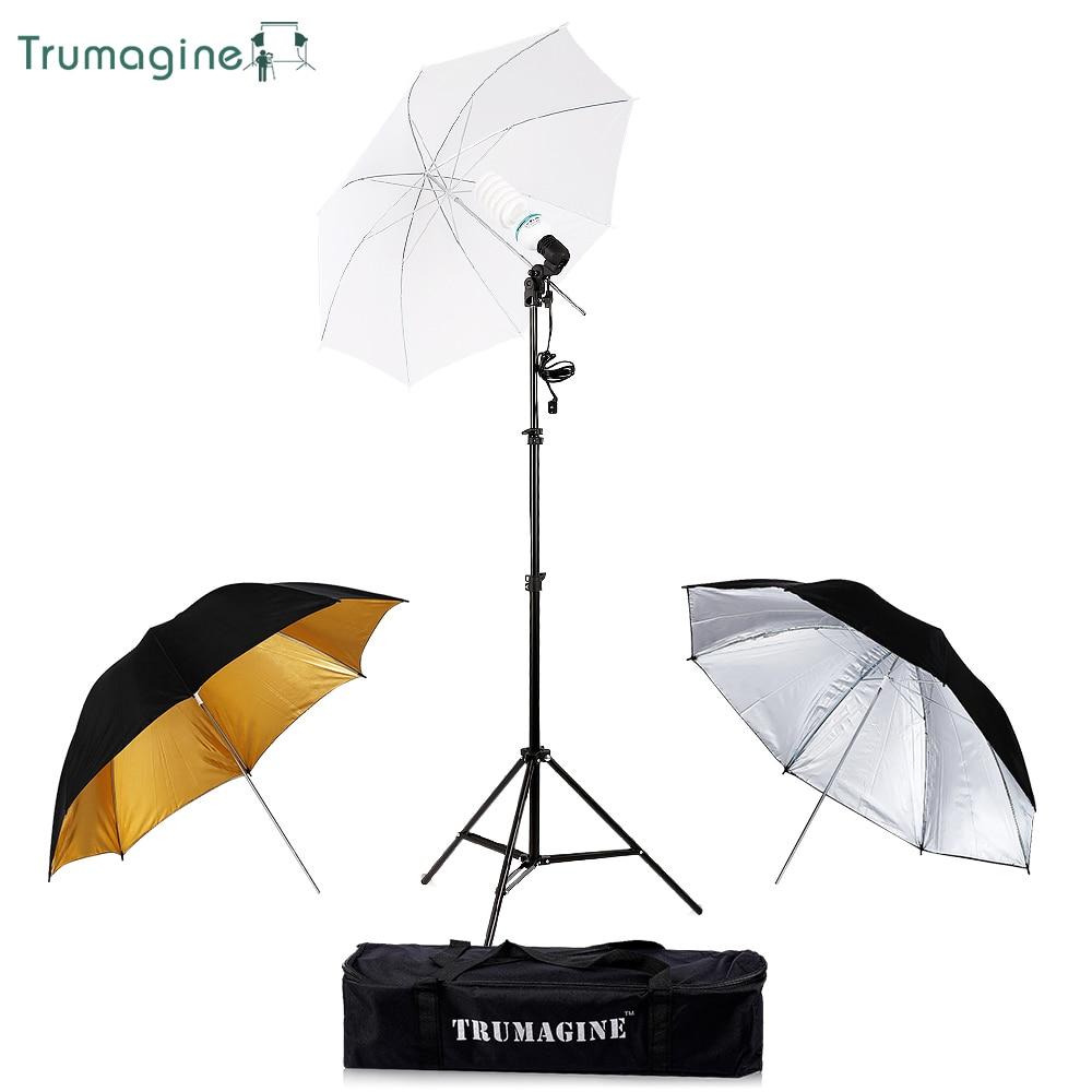 Photo Studio Professional Video Lighting Kit Photo flash soft umbrella + Photography Light Stand +E27 Socket Bulb Hold+ Bulb