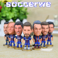 14PCS Display Box Soccer Barca Player Star Figurine 2 5 Action Doll Classic Version The Fans