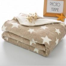 100X150CM Coral Fleece Plaid Secret Cobertor casal berber Fleece inside Blanket Throws on Sofa Bed Travel knit blankets