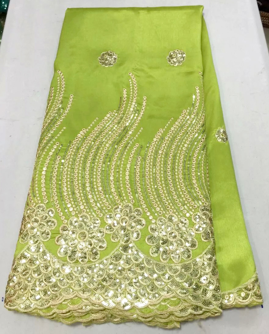 Fashion design lemon green and gold sequins ladies african for Georges chakra gold wedding dress price