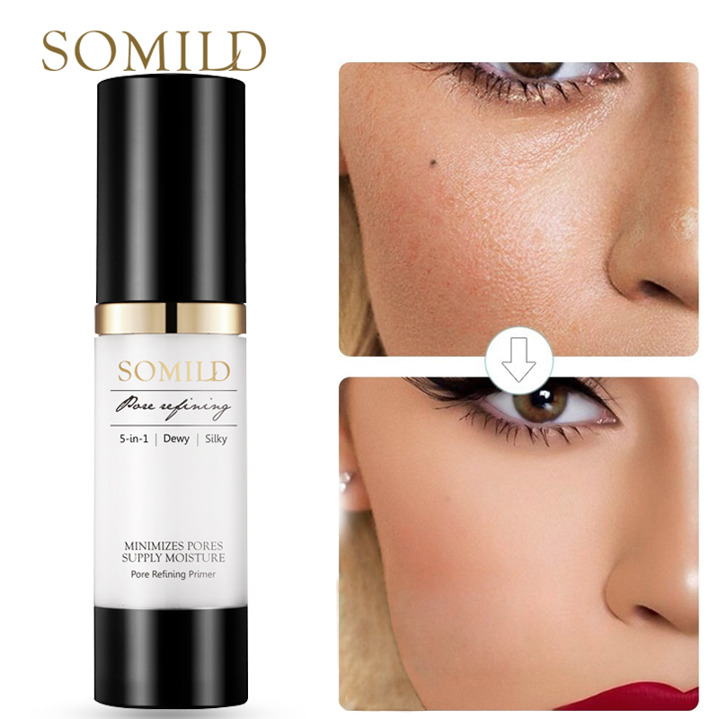 SOMILD 30ML Face Primer Makeup Base Oil Control Pore Minimizing Matte Makeup Facial Foundation Primer Korean