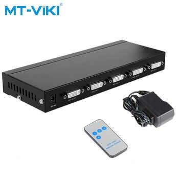 MT-VIKI 4 Port DVI Schaltkasten 4 Eingang 1 Ausgang IR Fernbedienung DVI PC Selector Unterstützung 2048*1536 MT-DV401