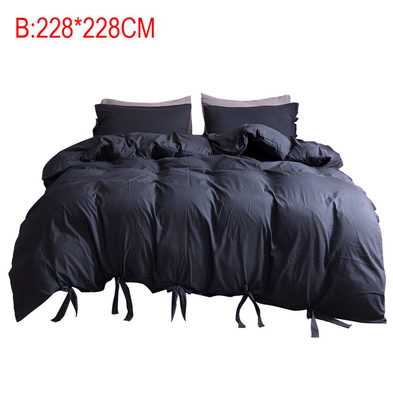 Image 5 - Solid Color Washed Cotton Duvet Cover Set 3 Piece Natural Ultra Soft Modern Style Easy Care Bedding Set Ultra Soft Simple-in Bedding Sets from Home & Garden