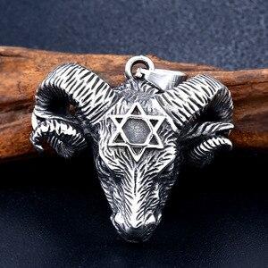 Ожерелье с подвеской Sunwheel, из нержавеющей стали 316, викинги, овцы с шестиугольной подвеской, Чокеры для животных, украшения для мужчин, BP8-332