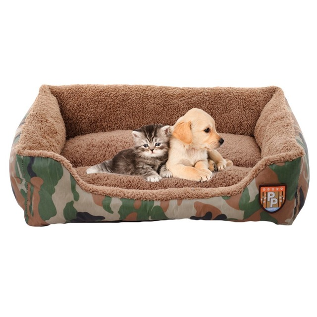 soft sofa dog bed used camper sofas aliexpress com buy warm pet nest cats jungle camouflage house cheap cozy rectangle puppy teddy square