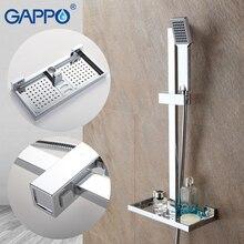 GAPPO регулируемая высота стояк направляющая настенный Душ раздвижной бар хромированный польский водопад душ ванная комната Душ