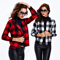 2017 Europe Fashion Autumn Winter Classic Plaid Knitwear Basic Coat Female Leisure Short Jacket Women Cool Brand Slim Jackets