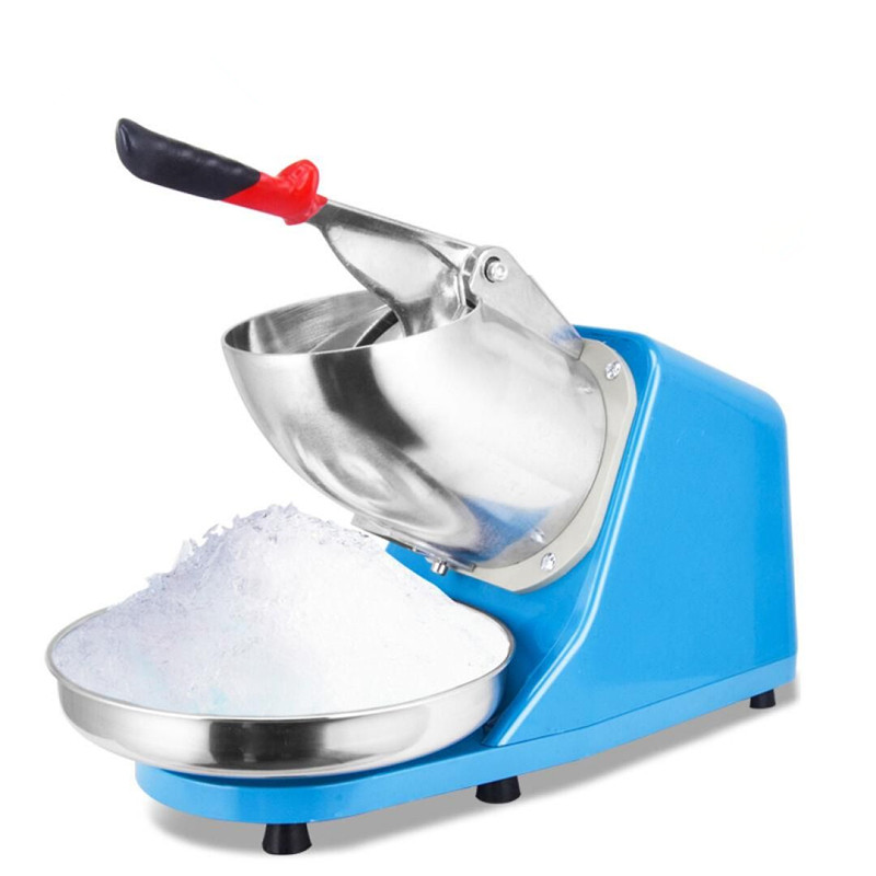 220V Commercial Automatic Electric Ice Crusher Shaver Machine Electric Pressure Snow Sand Ice Machine Household For Shop jiqi electric ice crusher shaver snow cone ice block making machine household commercial ice slush sand maker ice tea shop eu us