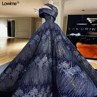 New Abendkleider Evening Dresses 2018 Sleeveless Sequined Evening Gown Arabic Dubai Prom Dresses Long