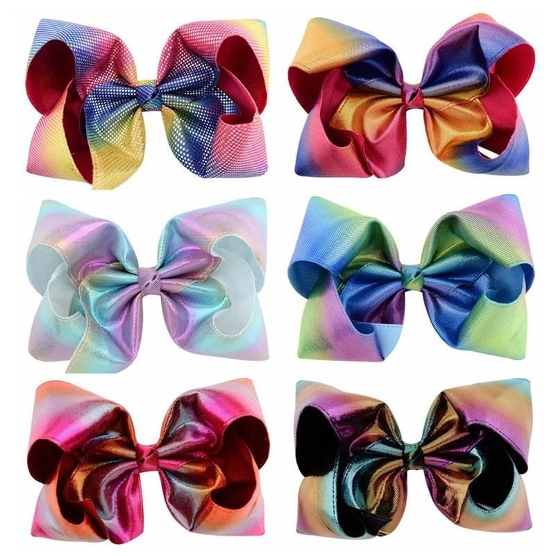 hair clip hair accessories hair bow Bow rainbow bow hair rubber