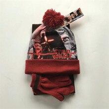 Фильм Звездные войны косплэй реквизит костюм дети Прихватки для мангала Handwear вязаная шапка шарф воротник набор шейных Платков