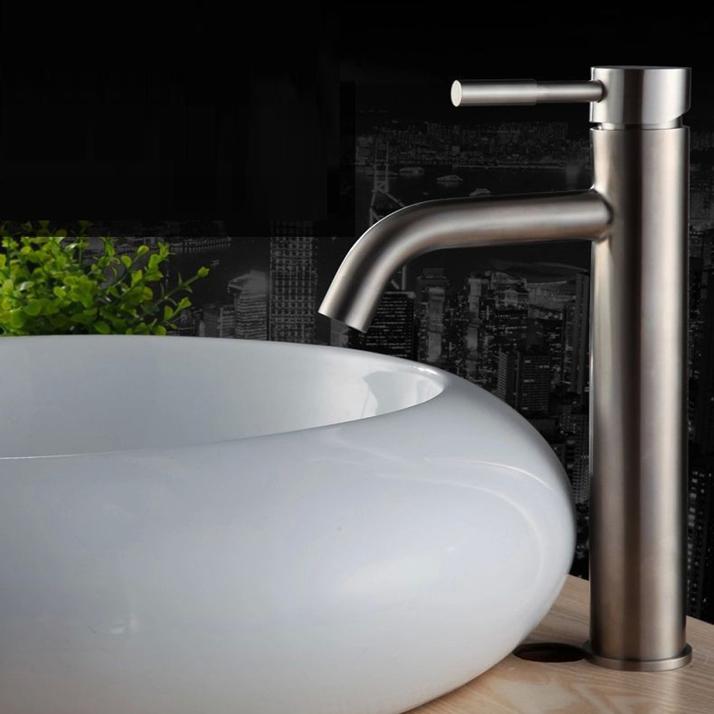Stainless Steel Counter Basin tap Bathroom faucet Vessel Sink Mixer ...