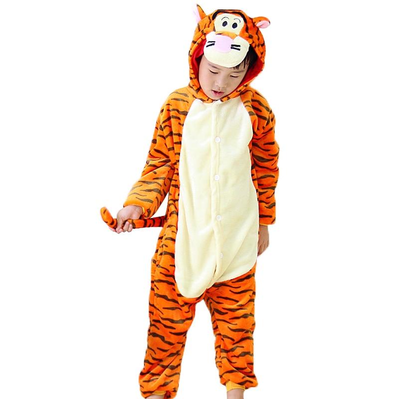 Children Pyjama Cosplay Onesie Kids Boy Girls Pajamas Tiger Unicorn Totoro Pikachu Panda Stitch Christmas Pajamas Boys Sleepwear