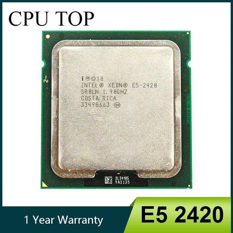 Процессор Intel ЦП Xeon E5 2420 SR0LN, процессор 1,90 ГГц, 6 ядер, 15 м, LGA 1356, процессор, процессор