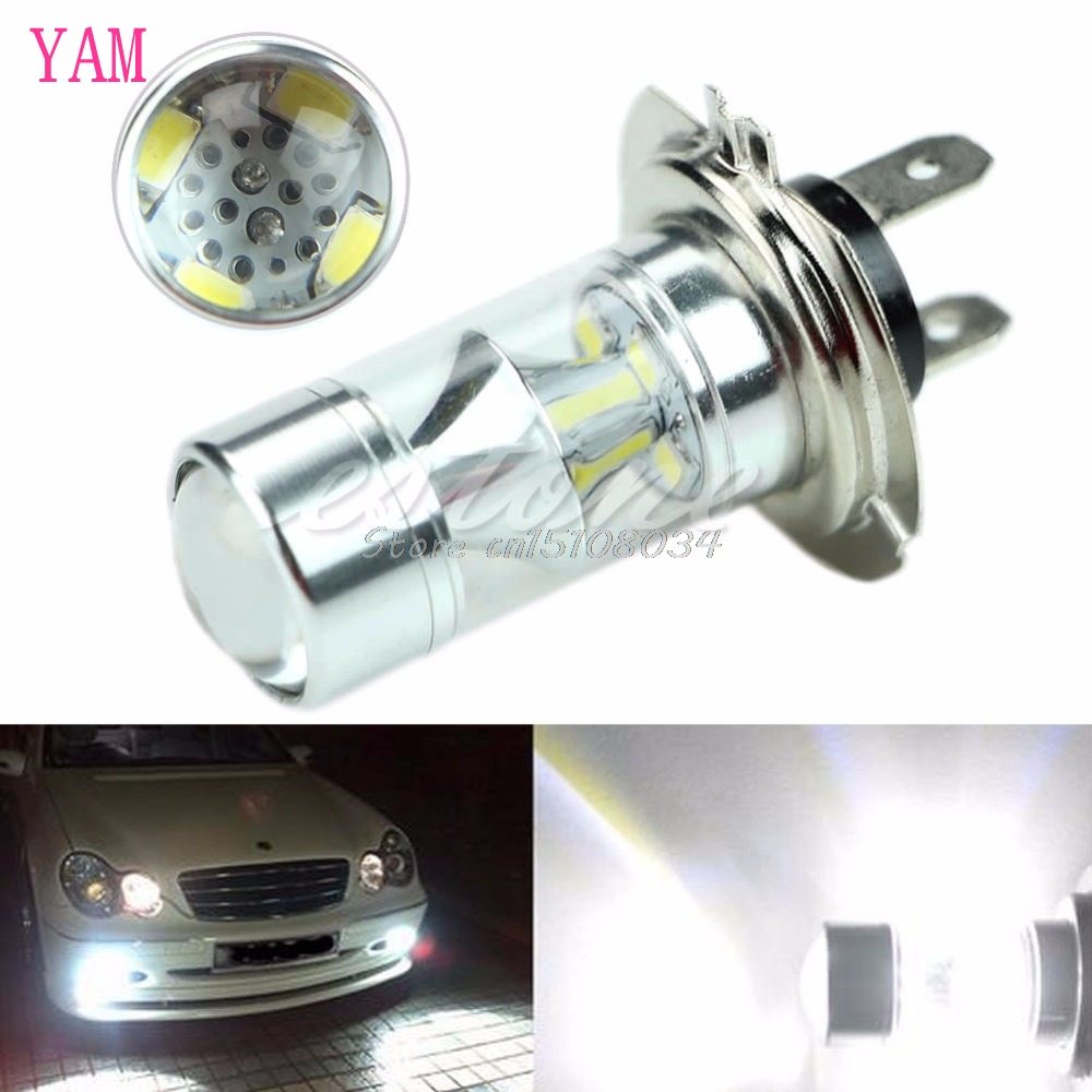 H7 60W 6000K Super White 2323 LED Fog Lights 12-SMD Driving Bulbs 12V S08 Drop ship