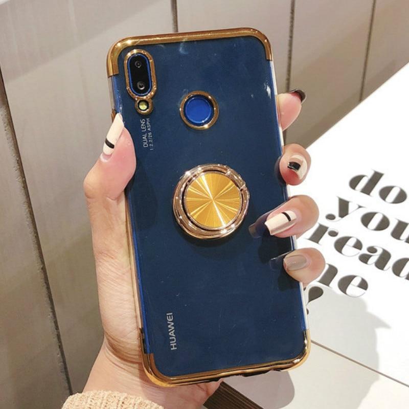 Magnetic Bracket Finger Plating Case For Huawei Honor 7A 7C 7X 8 8A 8C 8X MAX 9 9i Note 10 Lite Y5 Y6 Y7 Y9 Prime 2018 2019Cover
