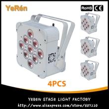 ( 4 unids ) batería inalámbrica alimentada LED PAR luz RGBWA + UV 6in1 Color PAR Can LED DJ luz de la colada luces de DJ