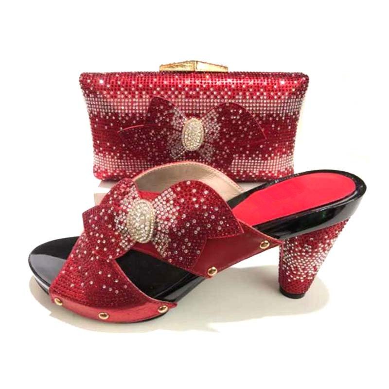 red Italian Shoes With Matching Bags For Wedding Italy Nigerian Shoe And Matching Bag African Wedding Shoes And Bag Set стоимость