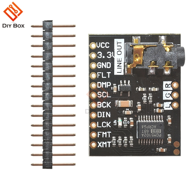 US $3 39 19% OFF|for Raspberry Pi pHAT Sound Card I2S interface PCM5102 DAC  Module 24 bit Audio Board With Stereo Jack Beyond ES9023 PCM1794-in