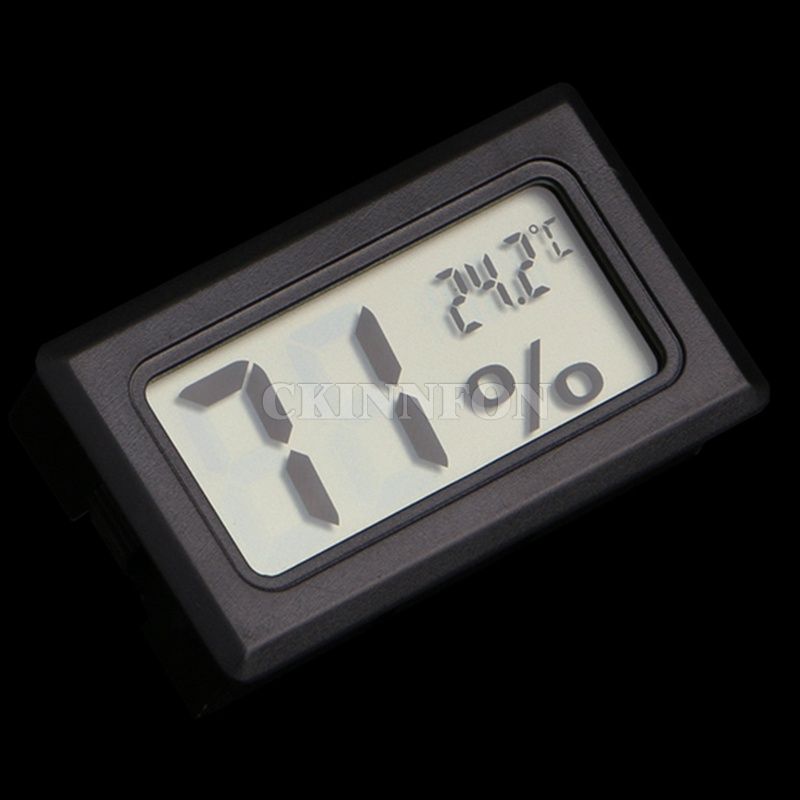 DHL 100PCS New Fashion Mini Digital LCD Indoor Temperature Humidity Meter Thermometer Hygrometer