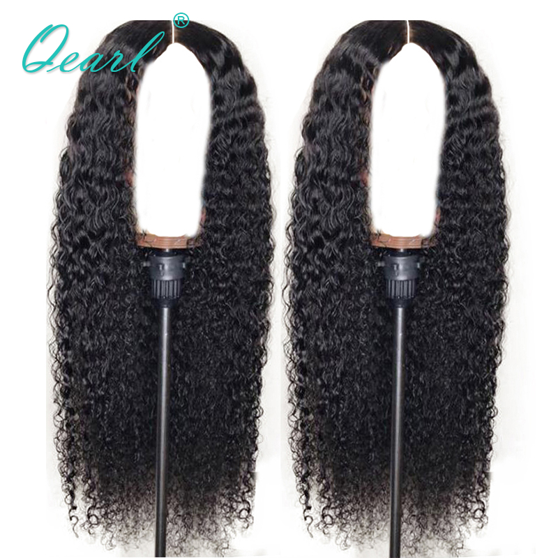 360 Lace Frontal Human Hair Wigs For Women 130 150 180 Density Pre Plucked Brazilian Remy Curly Wigs With Baby Hair Qearl