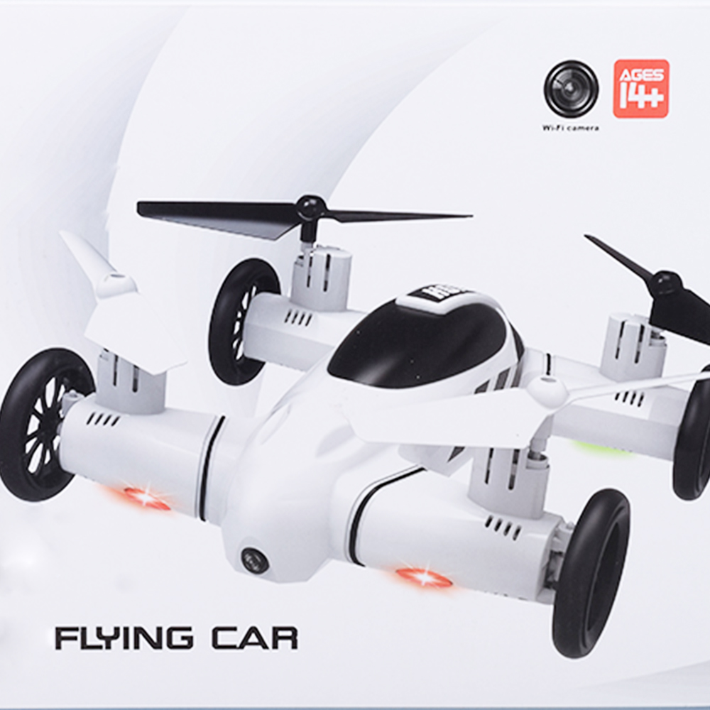 F809 2-IN-1 RC Flying Car 4WD 2.4G 4CH Remote Control Drone with WIFI Camera/RC Quadcoter Headless Mode 360 Degree VS X25 X9
