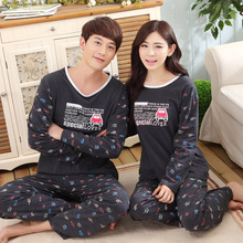 New Style Pajamas For Women Men High Quality Couple Pyjama Sets Cotton Pijamas Female Nightgrown Homeclothing Black Sleepwear
