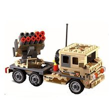 цена на Kazi Building Block Field Army Mobile SAM 84025 210pcs compatible with All Leading Bricks Toys