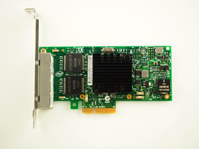 I350AM4 Chipset PCI-Express 4 Port Gigabit Ethernet Server Adapter NIC I350-T4V2 Free Shipping server adapter for 395867 001 nc150t 4 port