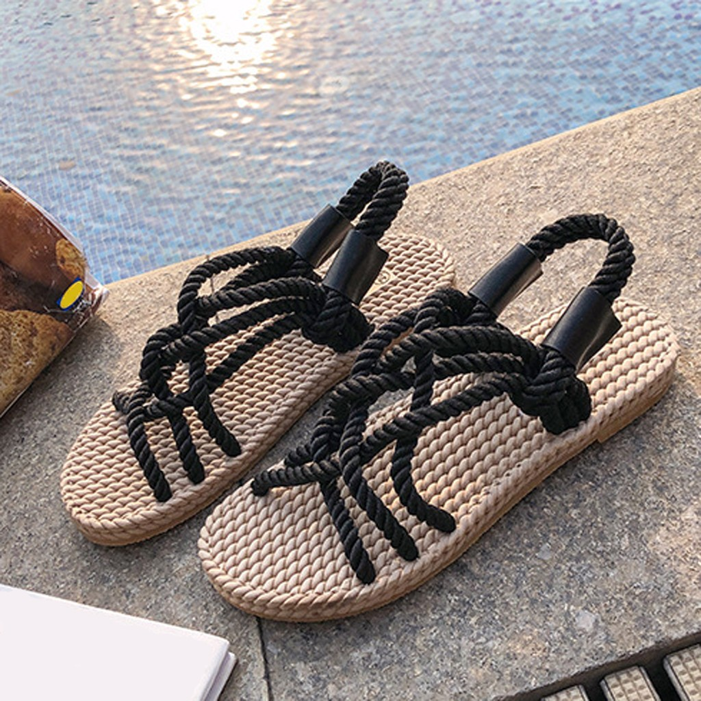 HTB1010bd8Gw3KVjSZFDq6xWEpXa7 - SAGACE Sandals Woman Shoes Braided Rope With Traditional Casual Style And Simple Creativity Fashion Sandals Women Summer Shoes