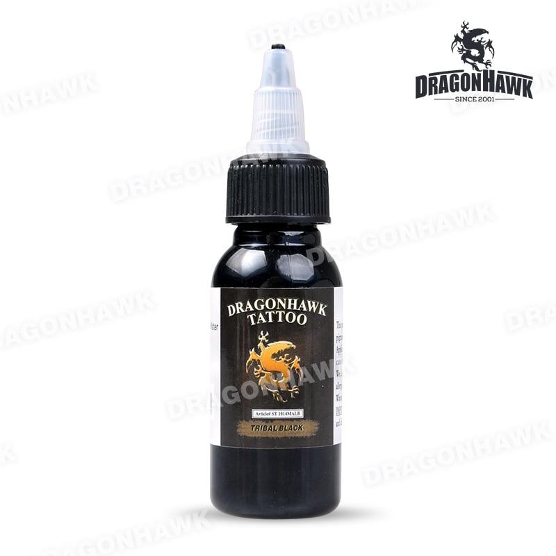 Dragonhawk Tattoo Ink 1-Pcak Black Color Set 1oz Bottles Color