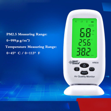Digital Air Quality Monitor PM2.5 Detector Smart Sensor  Temperature Humidity W/Carry CAS Thermometer Hygrometer AC100-240V цена