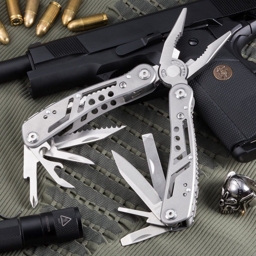 EDC Multitool with Mini Tools Knife Pliers Swiss Army Knife and Multi-tool kit for outdoor camping equipment (1)