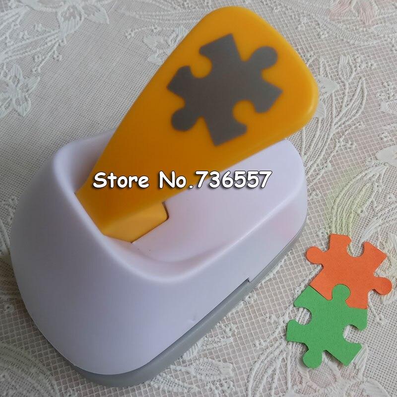 Gratis Pengiriman M ukuran Puzzle berbentuk menghemat daya kertas/eva busa craft pukulan Scrapbook Handmade pemukul DIY lubang punches puncher