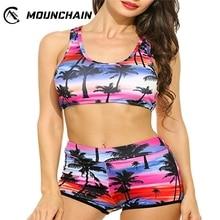 цена на 2019 Women Sexy Bikini Swimsuit Set Fashion Chic Coconut Tree Printing Brassiere and Briefs