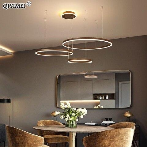 jantar luminaria suspensao regulavel suspendu aneis circulares cafe hanglamp luminaria