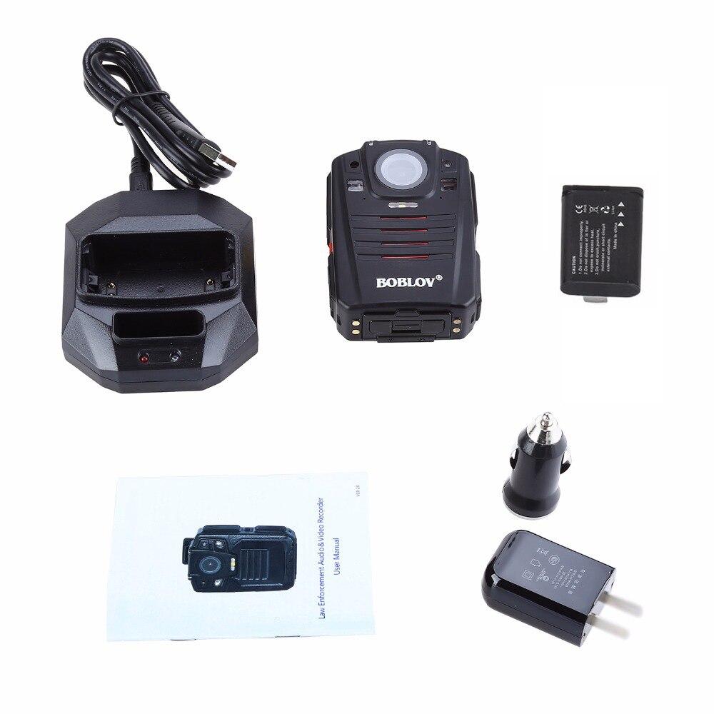 Boblov wifi câmera da polícia 64 gb f1 corpo kamera 1440 p câmeras desgastadas para aplicação da lei 10 h gravação gps visão noturna dvr gravador - 6