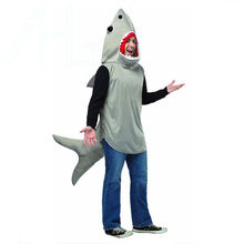 shark performance wear Halloween costume cospaly adult men stage dance