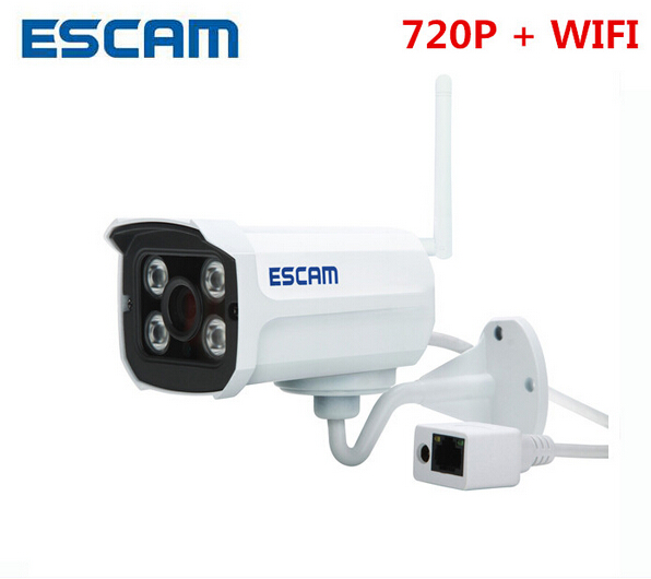 ФОТО ESCAM Brick QD300 WIFI 1MP HD onvif Network Mini Wifi IR-Bullet Camera IR 15m HD Network ip66 p2p cloud cctv wireless ip Camera
