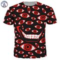 Mr.1991INC New Fashion Men/Women 3d T-shirt Print Cartoon Eyes Quick Dry Hip Hop Tshirts Summer Tops Tees
