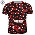 Mr.1991INC Nova Moda Dos Homens/Mulheres 3d T-shirt de Impressão Dos Desenhos Animados Olhos Quick Dry Hip Hop Camisetas Verão Tops Tees