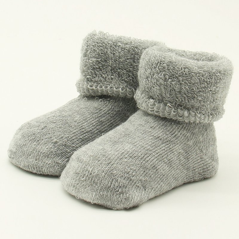 Lovely Sweet Thicker Cotton Warm S Socks 6 Colors Solid Children Winter Baby