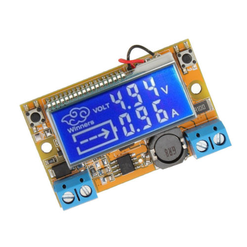 1PCS DC-DC step-down power supply adjustable push-button module with LCD display