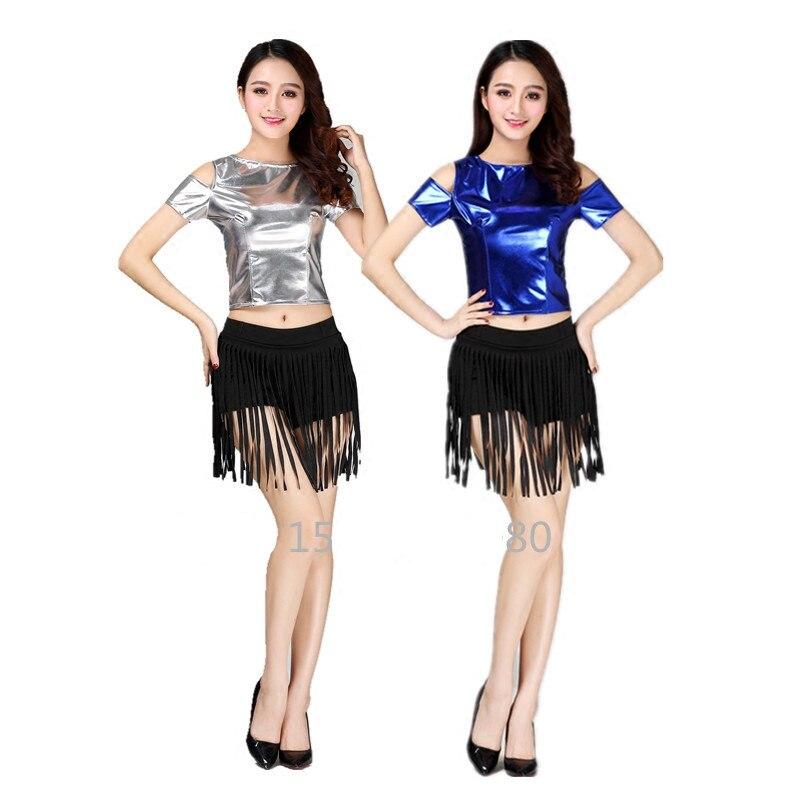 Top + shorts) club de baile mostrar trajes femeninos oro hip hop ...