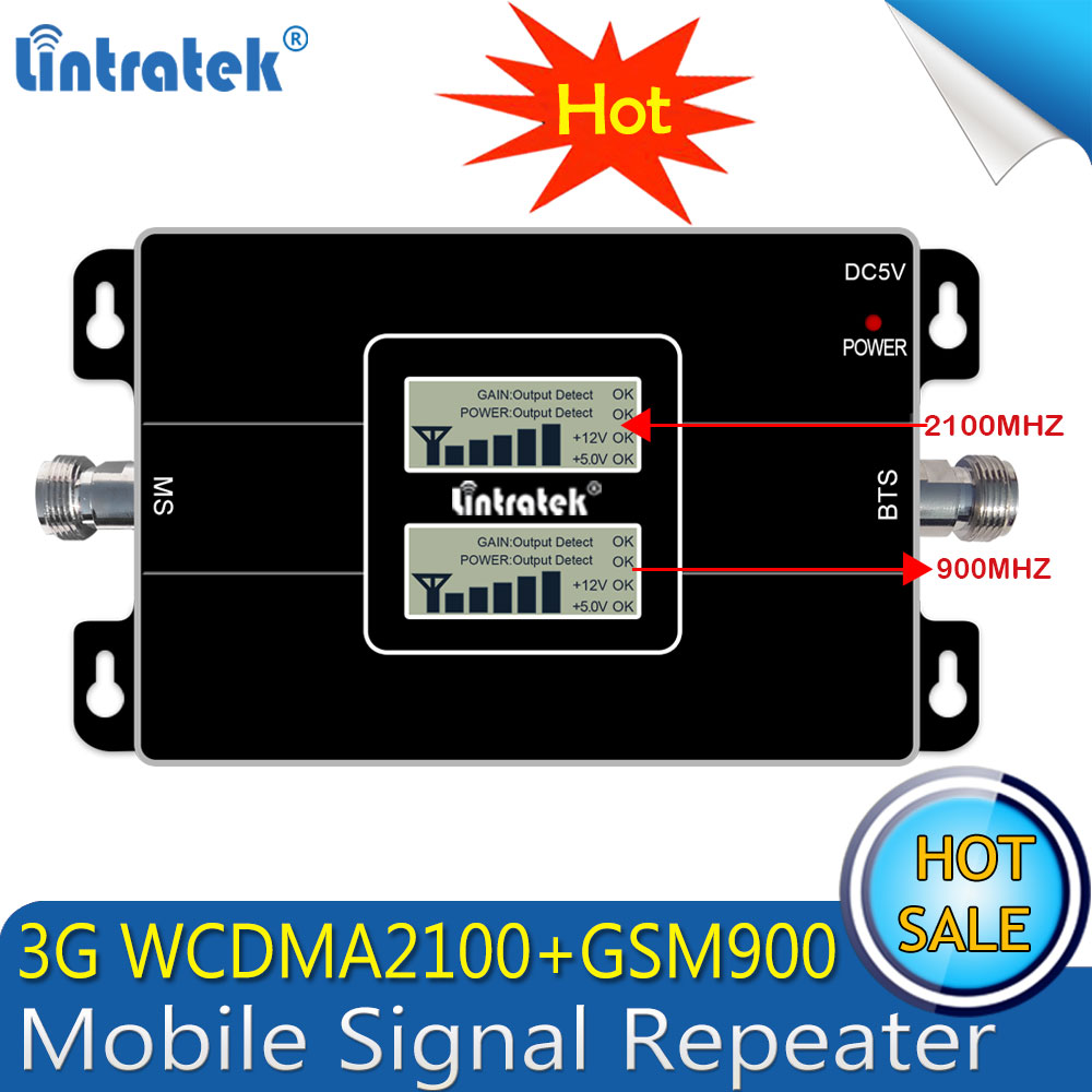 Lintratek russie 2G GSM 900 3G 2100 répéteur de Signal de téléphone portable Booster cellulaire GSM WCDMA UMTS 2100 2G 3G 4G antenne de Signal - 3