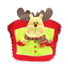 Christmas Festival Decoration Santa Claus Snowman Elk Patterns Chair Cover 4247cm Yellow Red