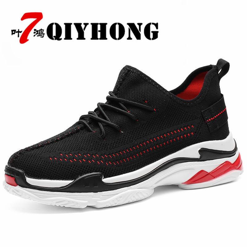 Shoes Men'S Spring And Autumn New Casual Shoes Low Help Breathable Fly Woven Surface. Rubber Outsole Brand Casual Shoes