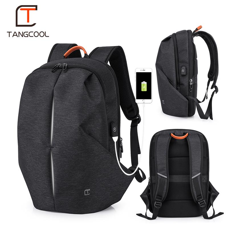 Tangcool Multifunction USB charging Men 17inch Laptop Backpacks For Teenager Mochila Leisure Travel Fashion Men backpack fashion hiking leisure men backpack