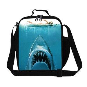 Крутая сумка с животными, серия Shark, кулер, сумка для обеда для детей, индивидуальный изолированный обед, коробка для детей, для мальчиков, де...